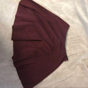 Brandy Melville Maroon Pleated Skirt